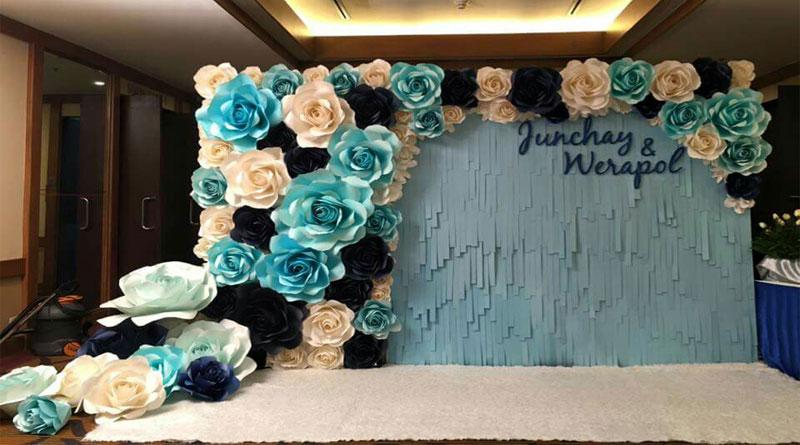 Làm backdrop đám cưới hoa giấy đẹp nhất bạn nên xem