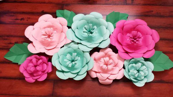 hoa giấy dán tường đẹp