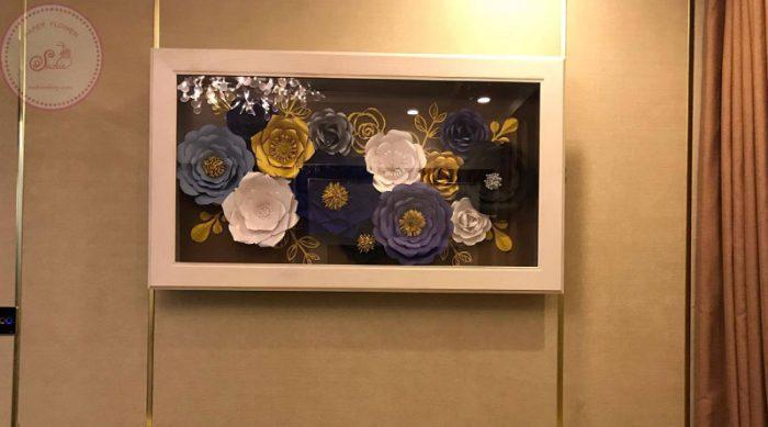 Khung tranh hoa giấy trang trí