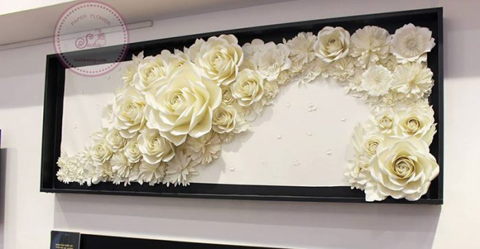 tranh hoa giấy 3D tại HN
