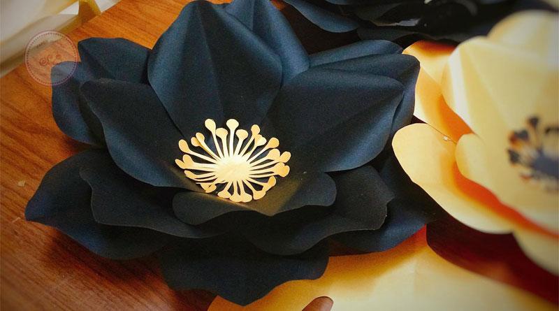 Tranh hoa giấy 3D tại Giải Phóng HN