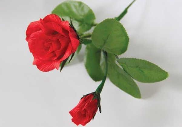 Hướng dẫn làm hoa hồng bằng giấy mỹ thuật