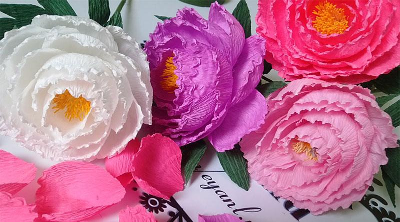 Tự làm các mẫu hoa giấy trang trí phần 1