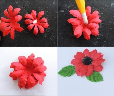 cách làm hoa giấy siêu dễ2