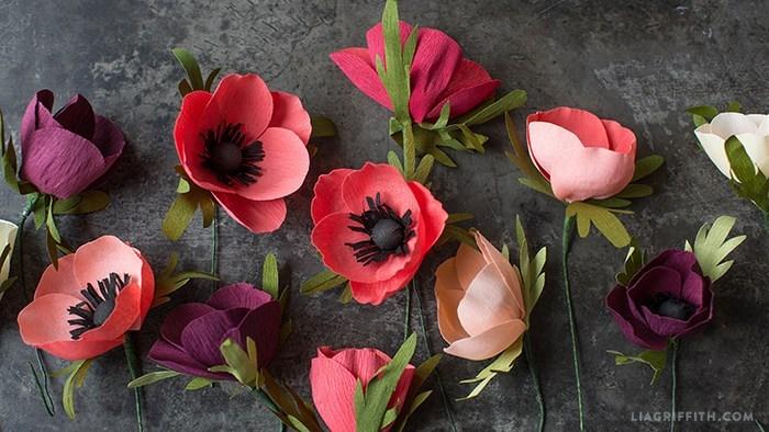 Hoa giấy nhún handmade sản phẩm không thể thiếu ngày lễ