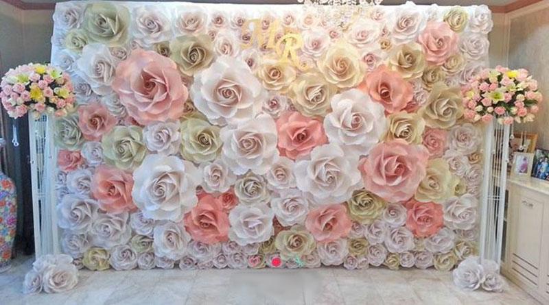Những yếu tố cần có khi làm backdrop hoa giấy