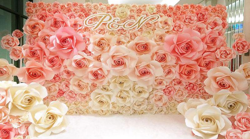 Thú vị từ phông cưới hoa giấy đẹp bạn chưa biết