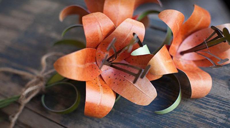 Làm hoa ly từ giấy mỹ thuật