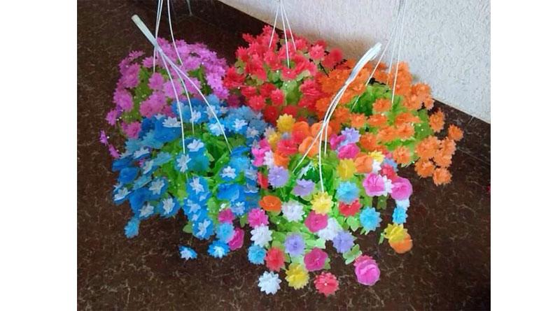 Nguyên liệu làm hoa giấy lụa tại Trường Chinh- Hà Nội