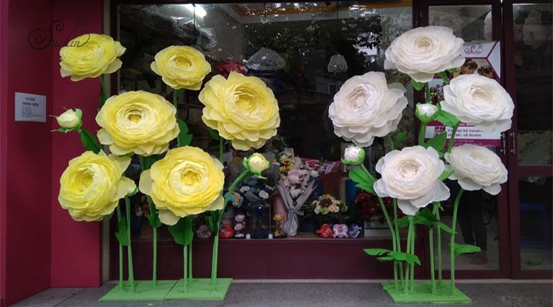 Mua nguyên liệu làm hoa giấy nhún đẹp