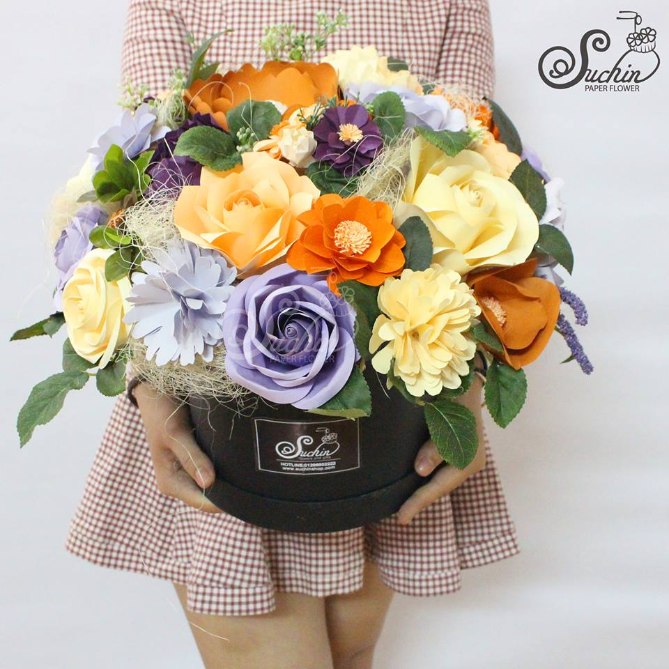 Lẵng hoa giấy - quà tặng ý nghĩa