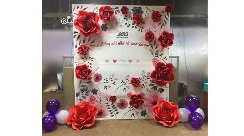 Lựa chọn trang trí hoa giấy đám cưới đẹp