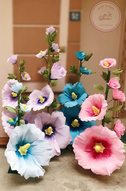 làm trang trí hoa giấy đám cưới