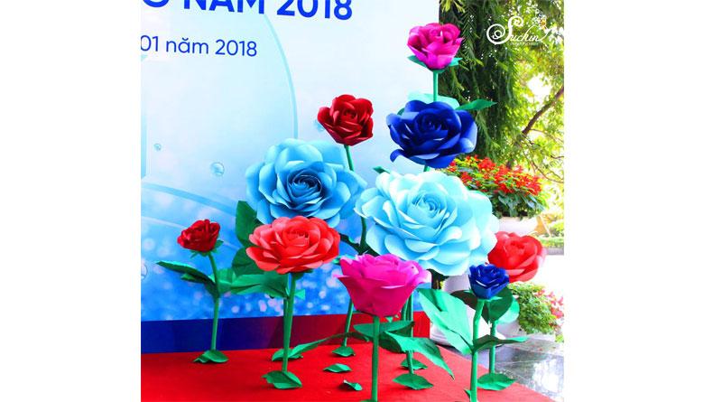 Mua hoa giấy handmade trang trí tại HN