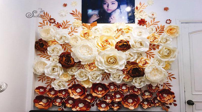Ưu điểm khi sử dụng dịch vụ thuê backdrop hoa giấy