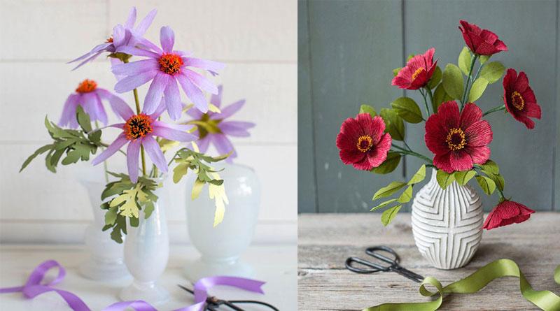 Dạy làm hoa giấy nghệ thuật đơn giản