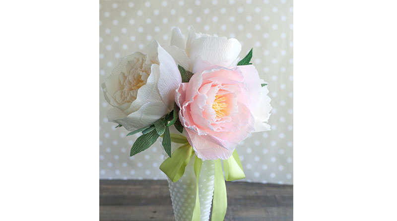 Dạy làm hoa giấy nhún siêu đơn giản