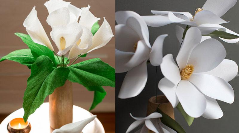 Làm hoa giấy trang trí khi tết về