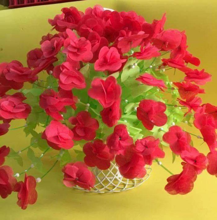 nguyên liệu làm hoa giấy lụa