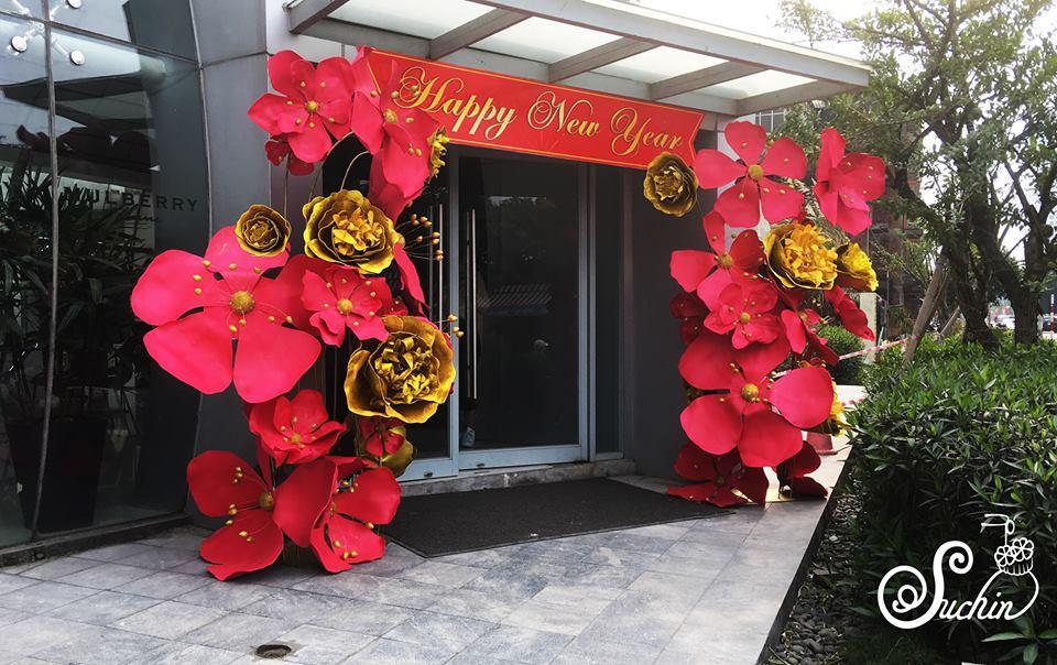 Trang trí tết bằng hoa giấy handmade siêu xinh