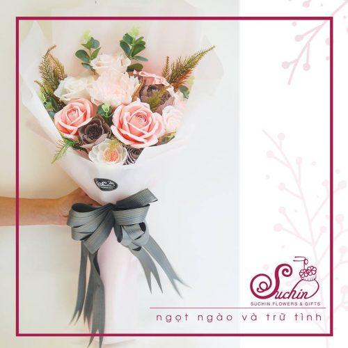 Bó hoa 01- Ngọt ngào và trinh nữ