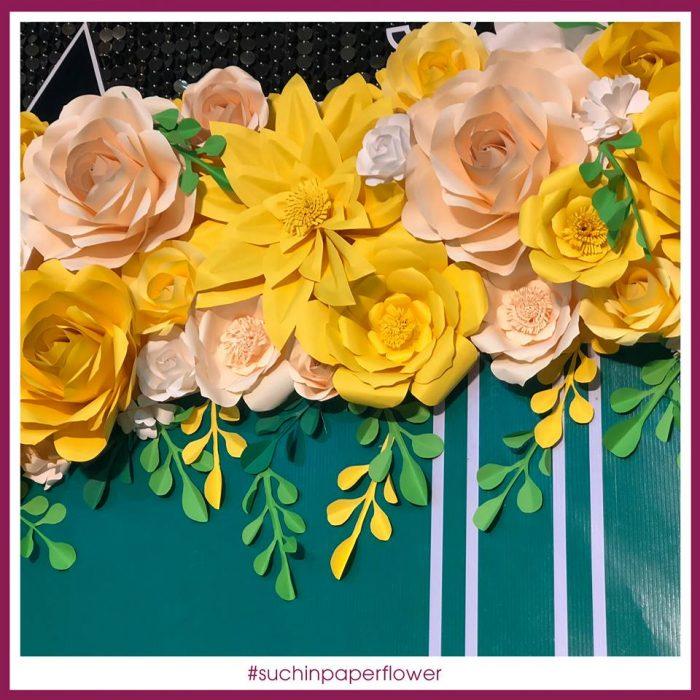 trang trí hoa giấy chào tết đẹp