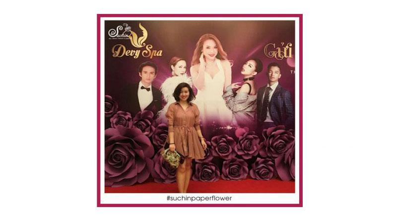 Trang trí backdrop hoa giấy tại Quảng Ninh