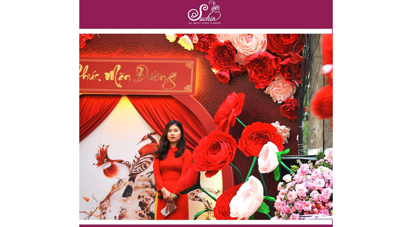 Suchin shop dạy làm hoa giấy tại Thái Nguyên