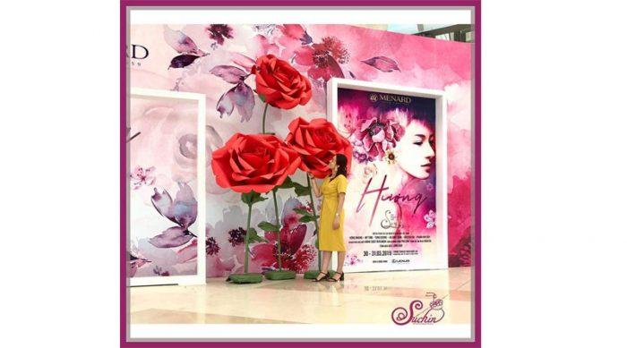 hoa trang trí khổng lồ đẹp