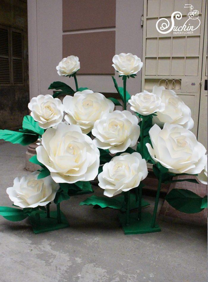 hoa trang trí khổng lồ hn