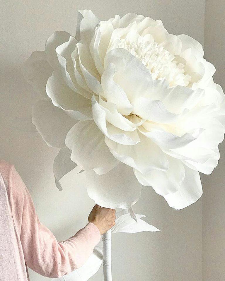 Giấy nhún Ý làm hoa trang trí