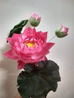 Lưu ý khi làm hoa sen bằng giấy nhún
