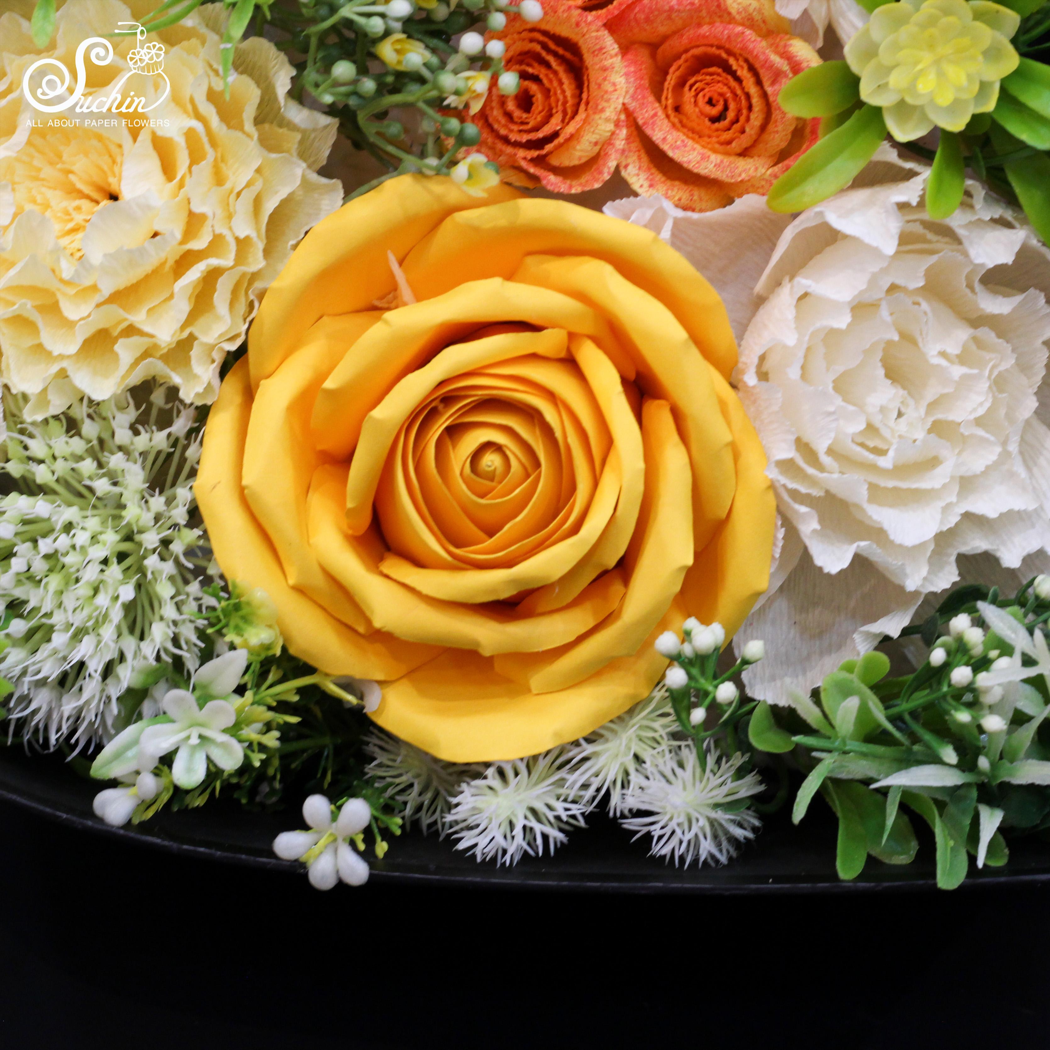 Màu giấy mỹ thuật làm hoa trang trí