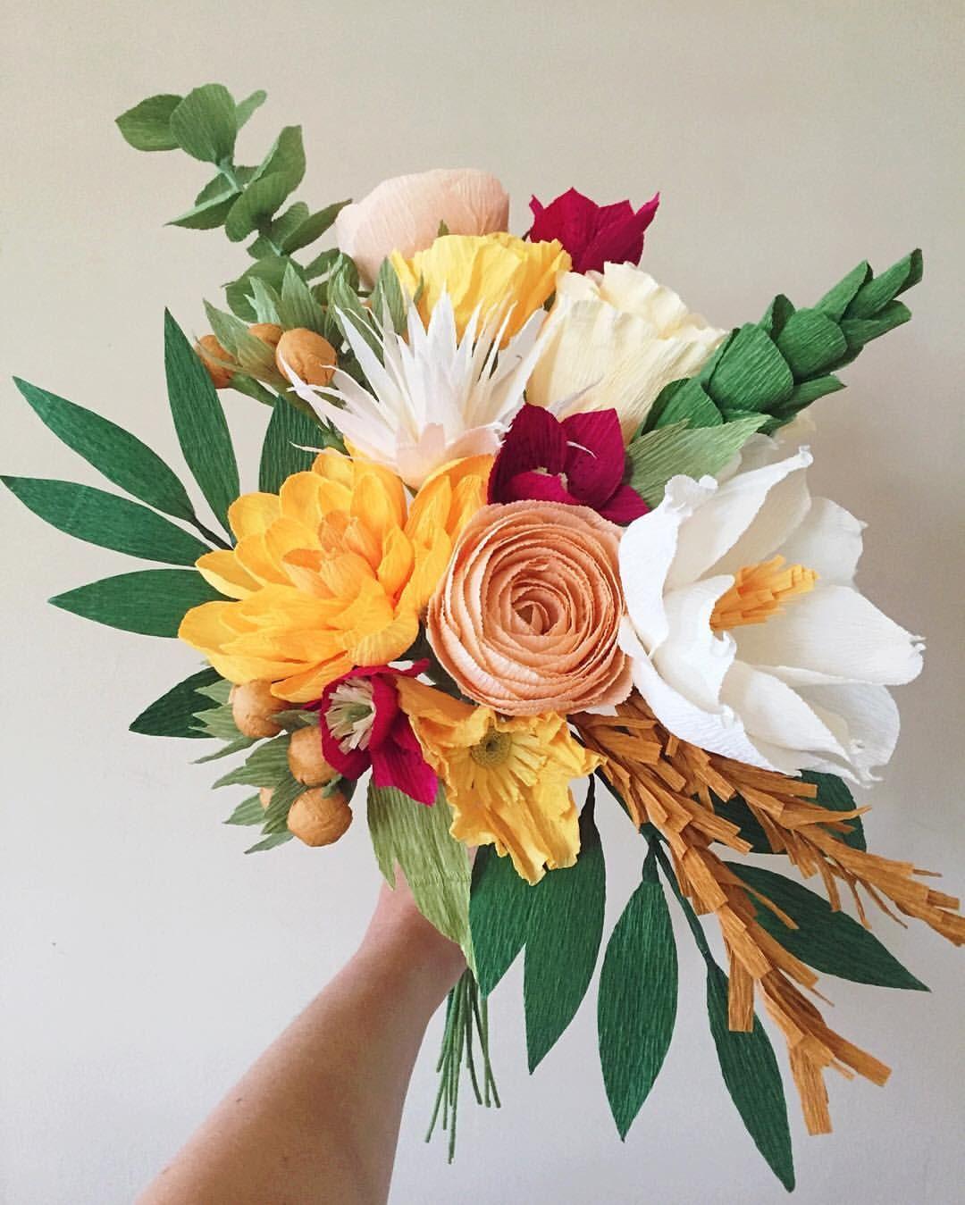 Sắc màu mùa thu của giấy làm hoa handmade