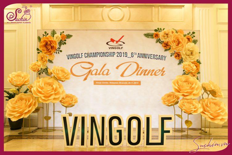 Trang trí gala dinner VINGOFT