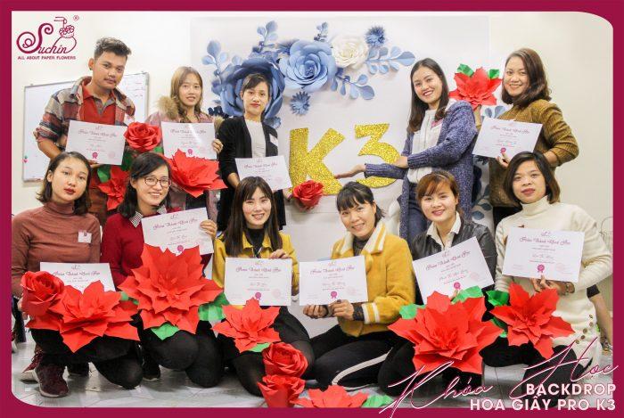 khóa học làm hoa giấy online