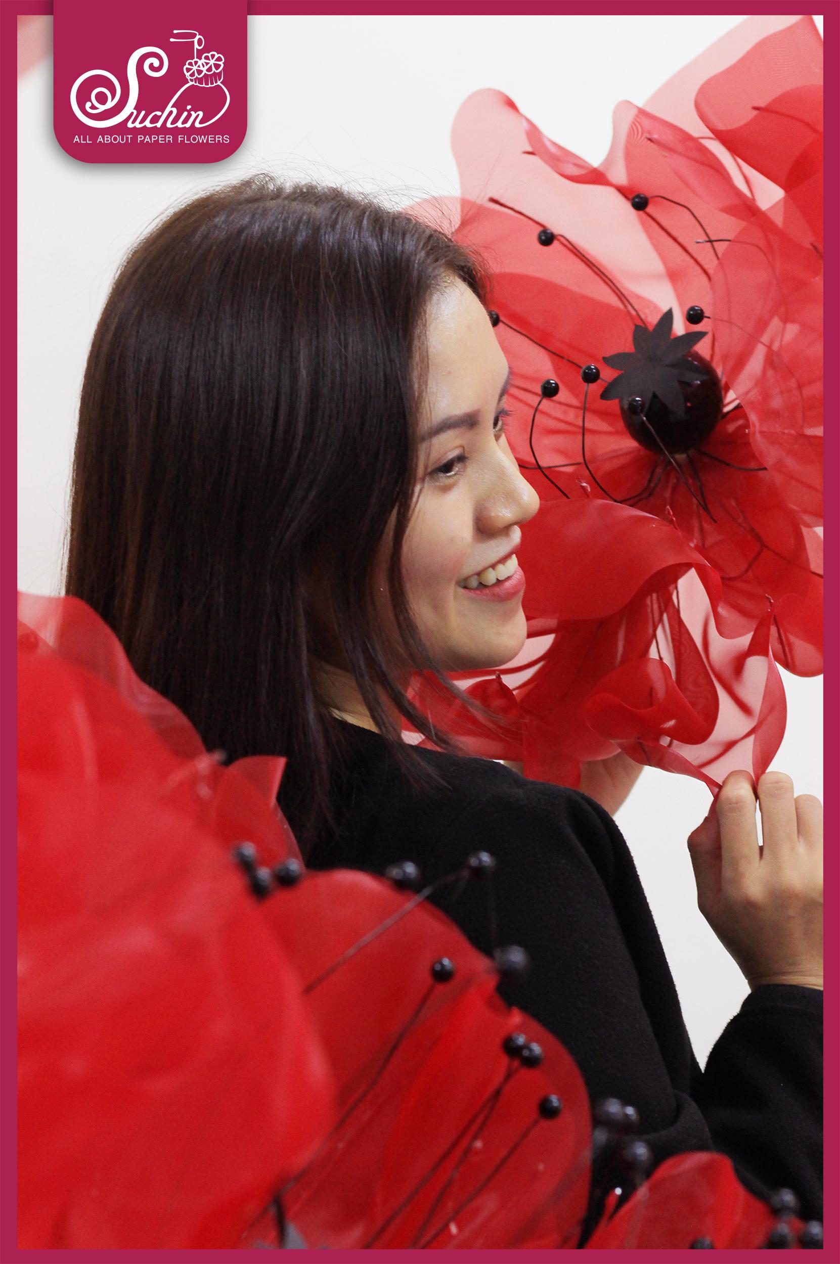 Cây hoa voan đỏ