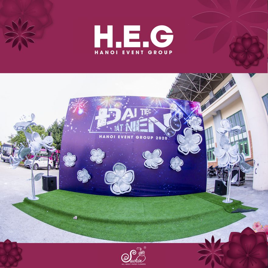 Backdrop Đại tiệc tất niên Hanoi Event Group