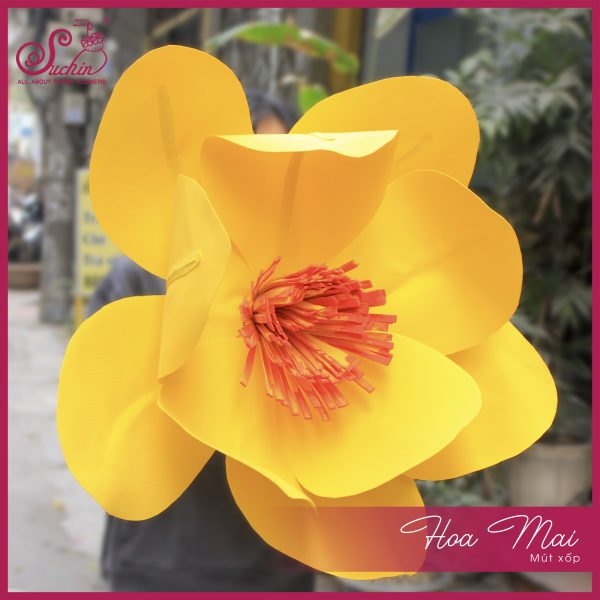 Hoa mai mút xốp đường kính 70cm