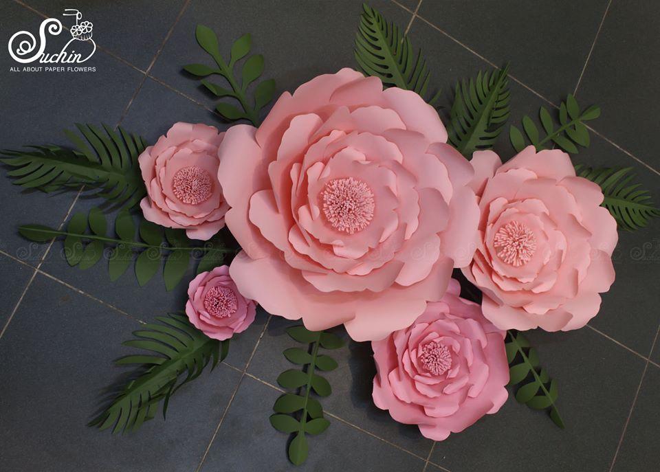 Set hoa backdrop decor phòng ngủ