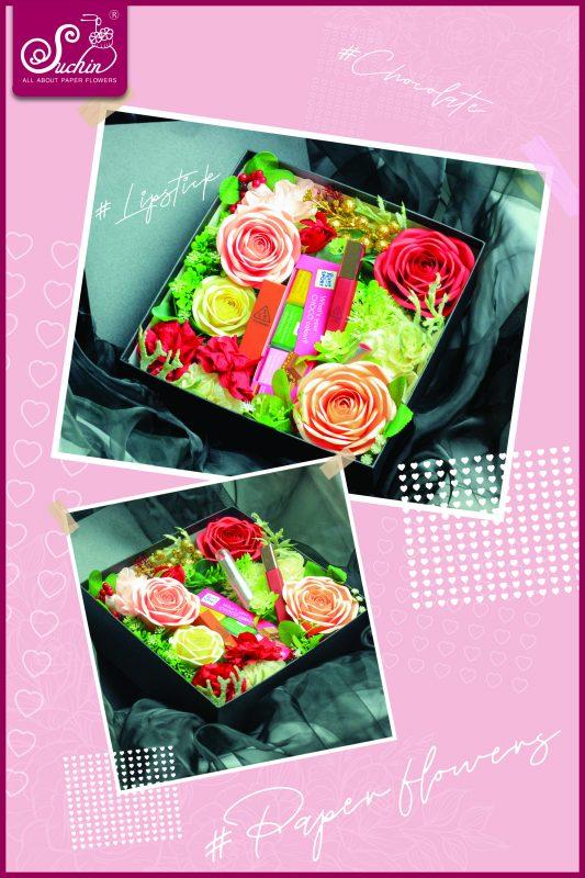 Hộp hoa giấy quà tặng sáng tạo