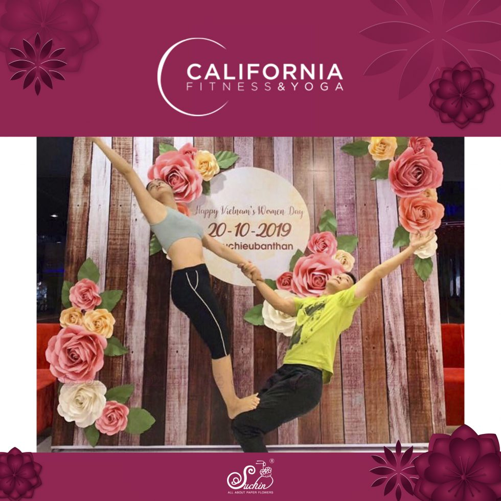 California – Backdrop trang trí 20/10 chuỗi hệ thống phòng tập cao cấp