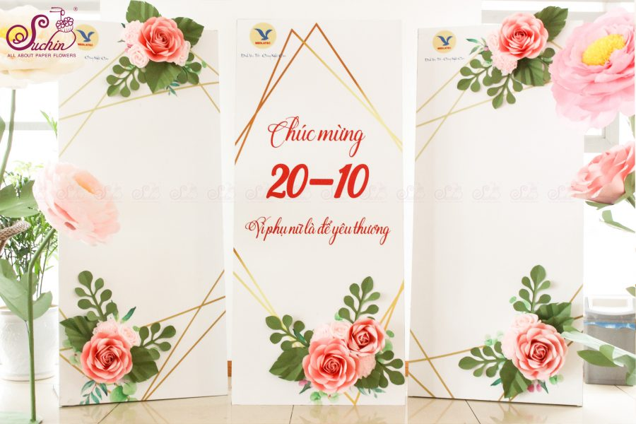 MEDLATEC – Backdrop hoa giấy trang trí 20/10