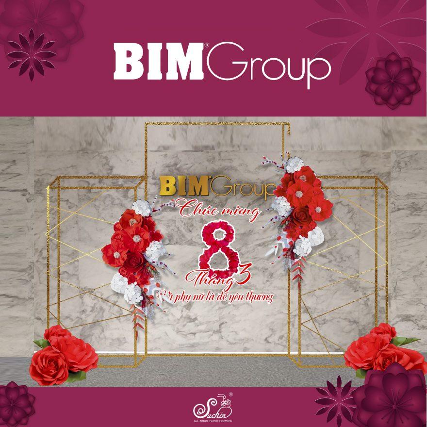 BIM Group - Một bài toán khó trang trí backdrop 8/3