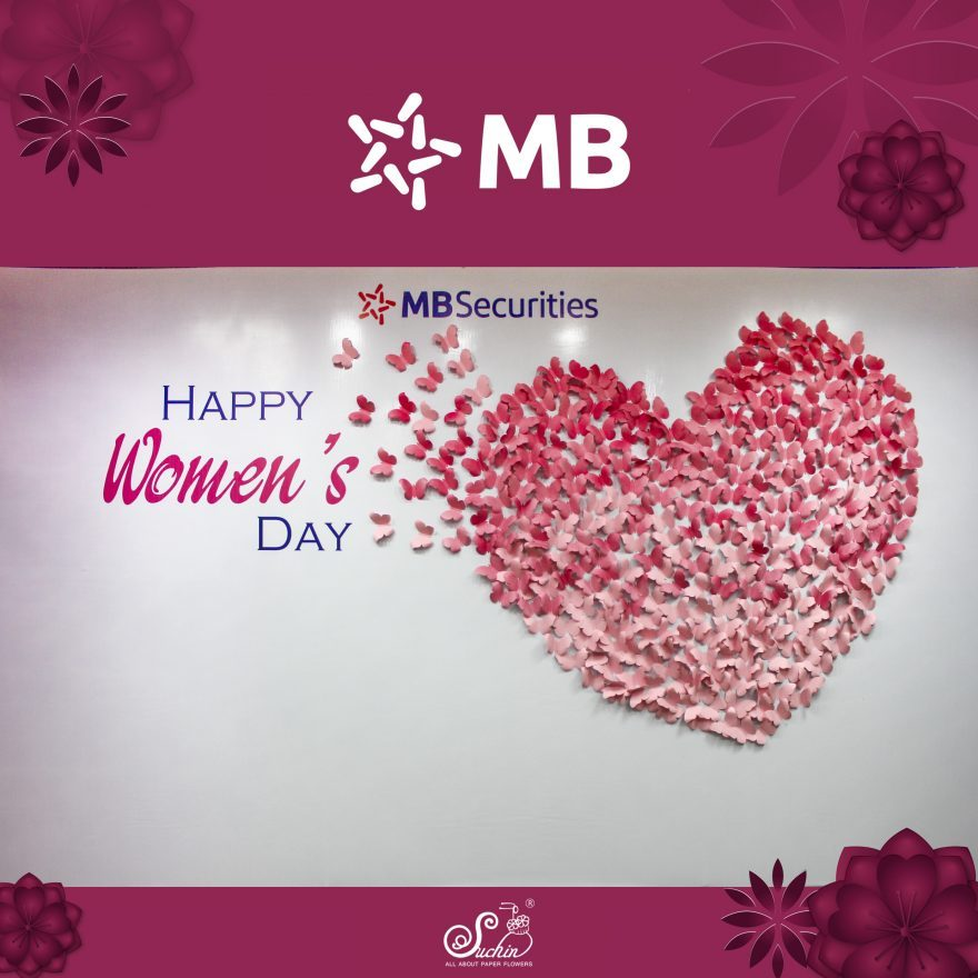 MB Securities – Backdrop trang trí 8/3
