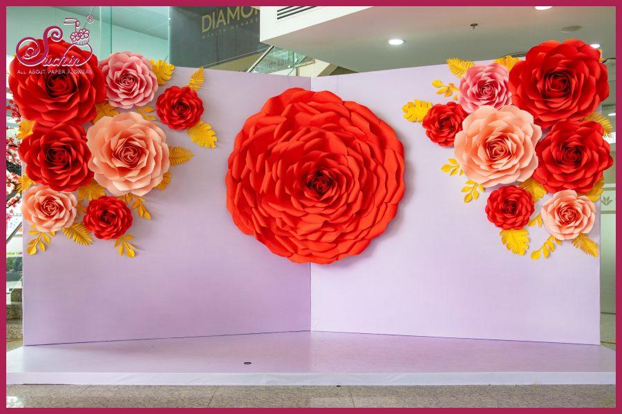 VP Bank – Backdrop bông hoa giấy khổng lồ đường kính 2m