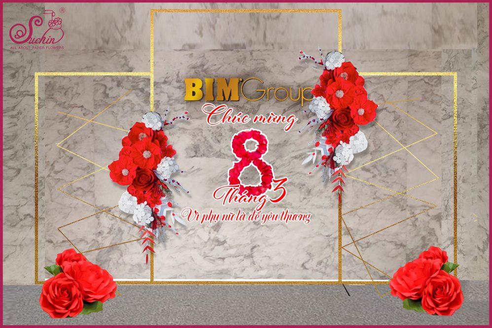 BIM Group – Backdrop trang trí chương trình 8/3