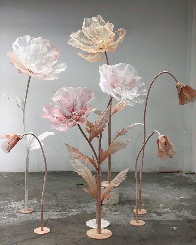 Tổng hợp mẫu cây hoa khổng lồ trang trí sự kiện