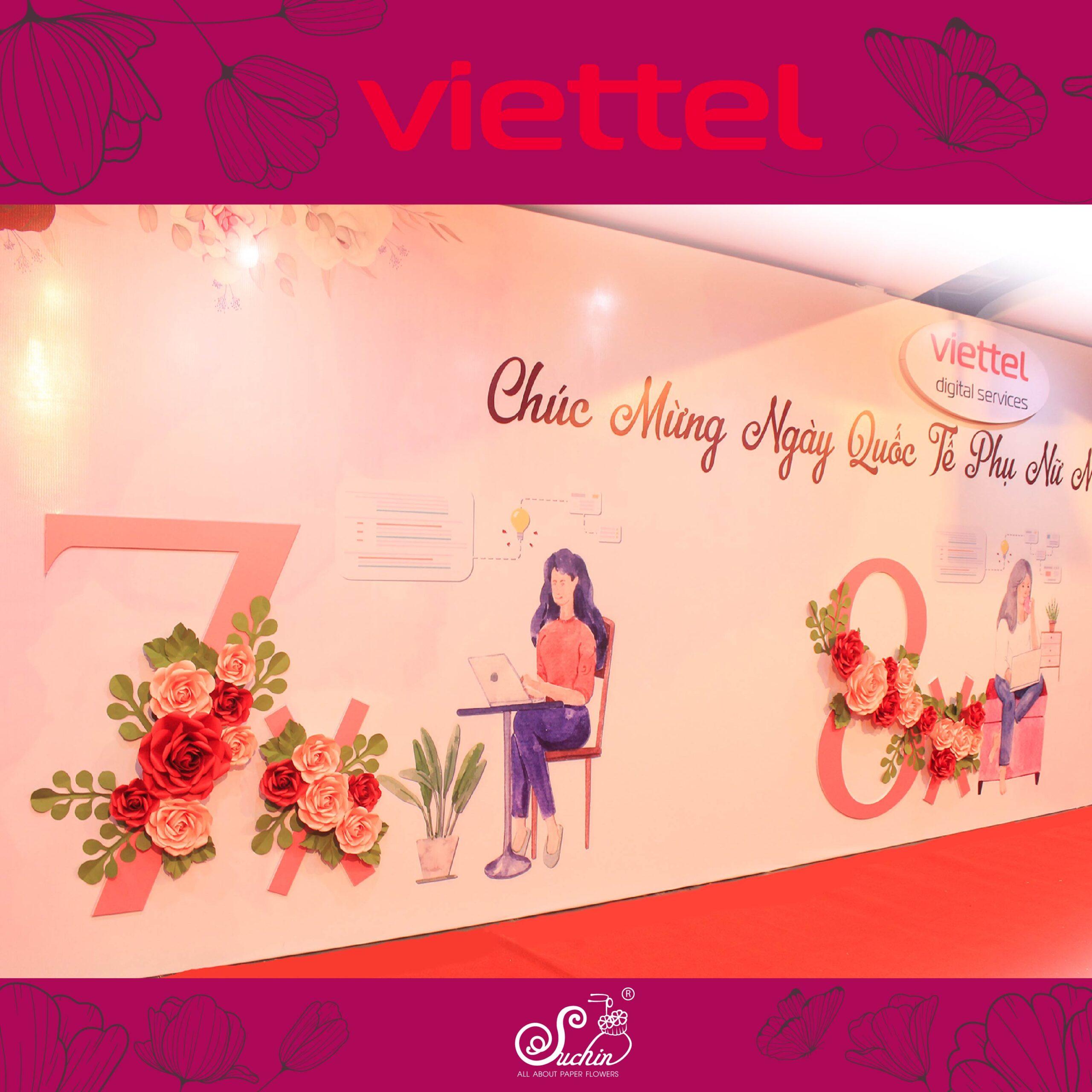Viettel Keang Nam – Cung ứng sản phẩm hoa giấy trang trí