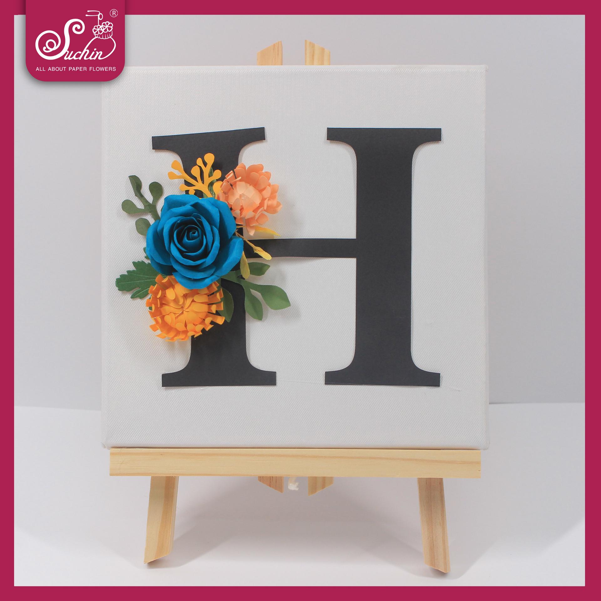 Tranh hoa giấy chữ H